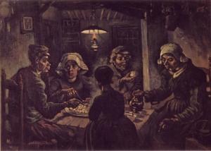 Comedores de patatas, 1885. Vincent Van Gogh